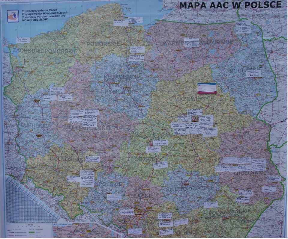 Mapa Polski AAC
